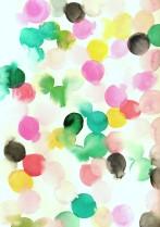 watercolour_emerald_hot_pink_saffron_black